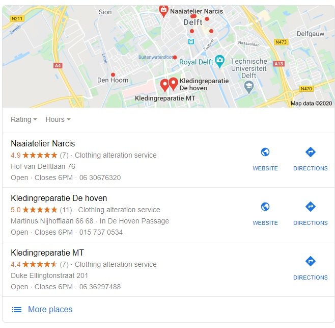 Google Mijn Bedrijf SEO